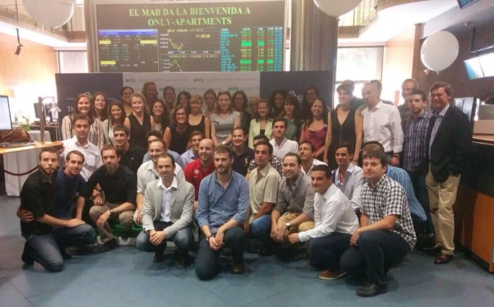 Only-apartments celebra il suo ingresso in Borsa Mercato Alternativo spagnolo (MAB)
