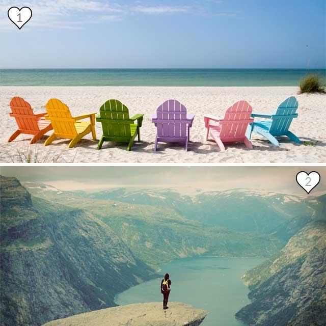 Sei di mare o montagna?