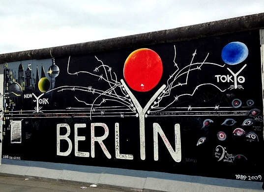 La caduta del muro di Berlino. East Side Gallery